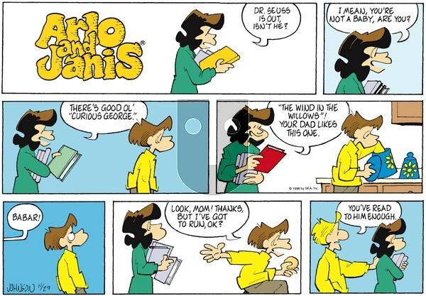 Arlo and Janis on Sunday November 29, 1998 Comic Strip
