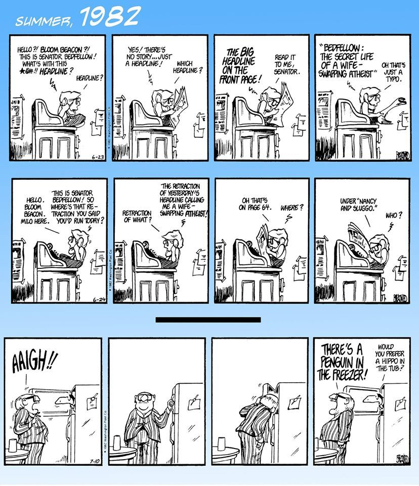 Bloom County 2019 Comic Strip for November 23, 2015