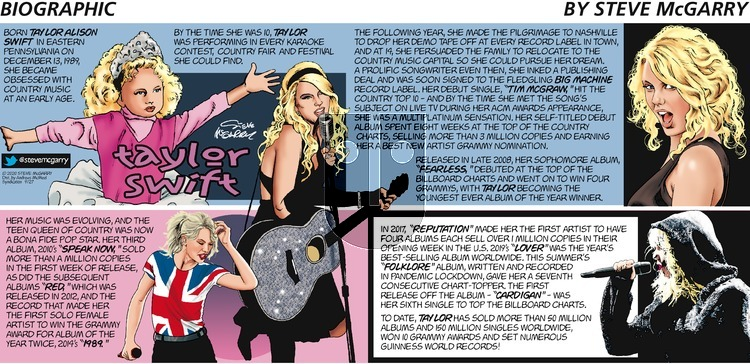 Biographic on Sunday September 27, 2020 Comic Strip