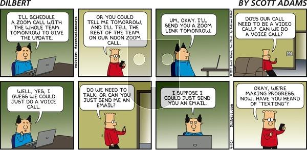Dilbert - Sunday April 11, 2021 Comic Strip