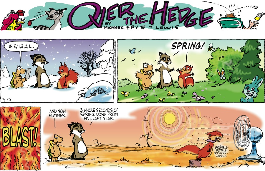 Over the Hedge by T Lewis and Michael Fry for March 03, 2019
