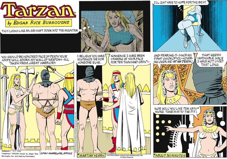 Tarzan Comic Strip for February 17, 2019