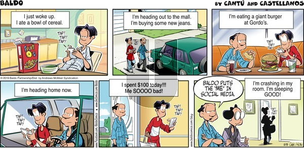 Baldo on Sunday September 15, 2019 Comic Strip