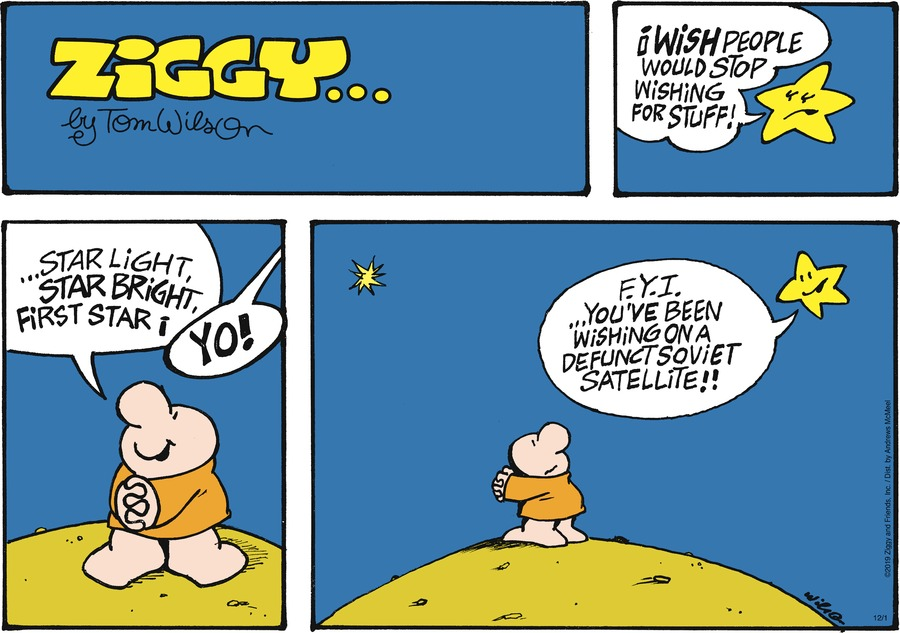 Ziggy Comic Strip for December 01, 2019