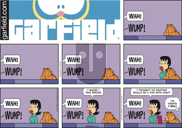 Garfield on Sunday January 6, 2019 Comic Strip