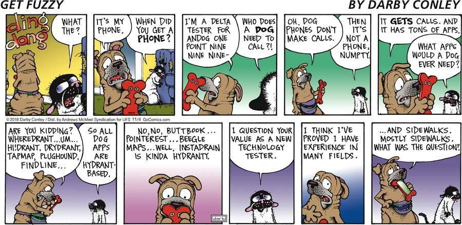 Get Fuzzy Comic Strip for November 04, 2018