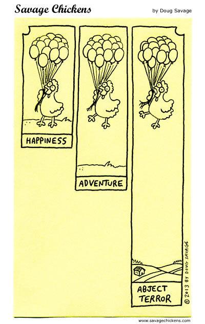 Happiness Adventure abject terror