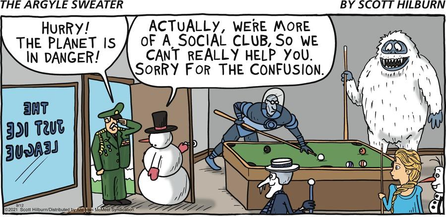 The Argyle Sweater Comic Strip for September 12, 2021