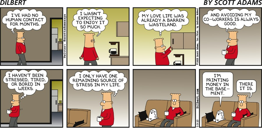 One Source Of Stress - Dilbert by Scott Adams
