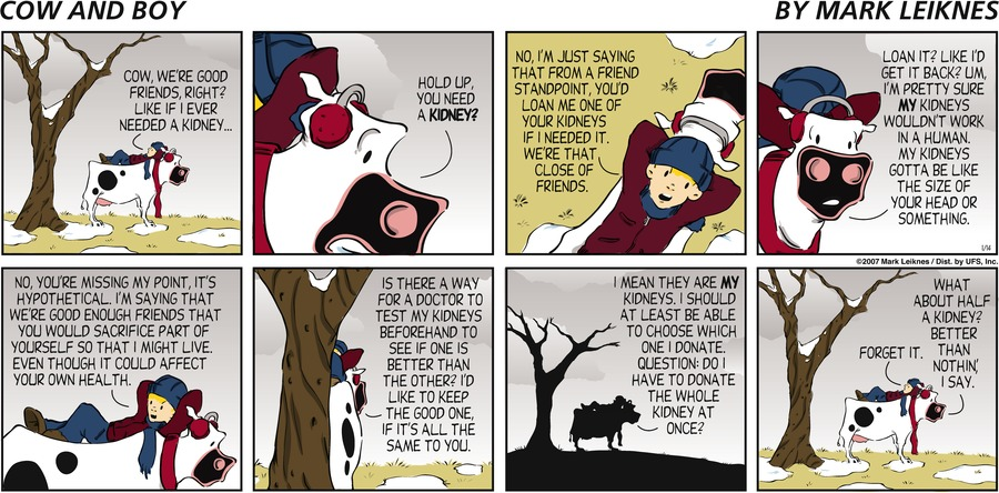 Cow and Boy Classics Comic Strip for January 22, 2021
