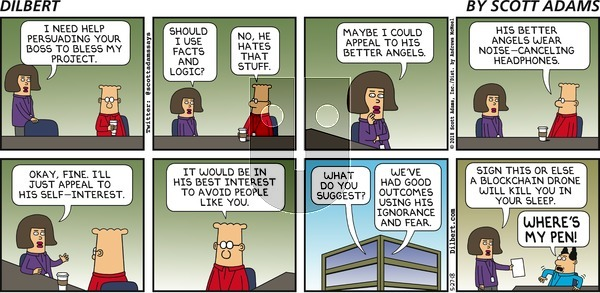 Dilbert on Sunday May 27, 2018 Comic Strip