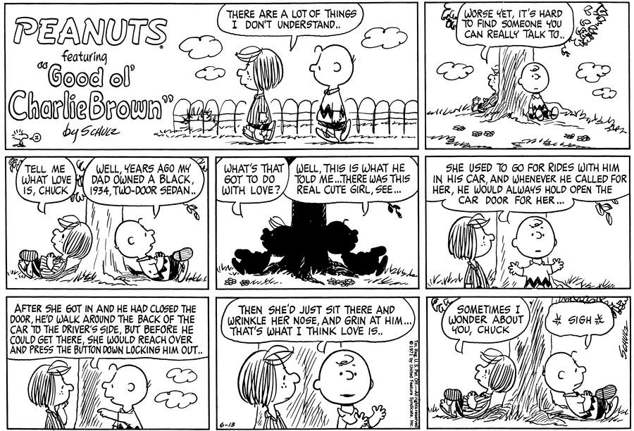 Peanuts Comic Strip for June 13, 1971