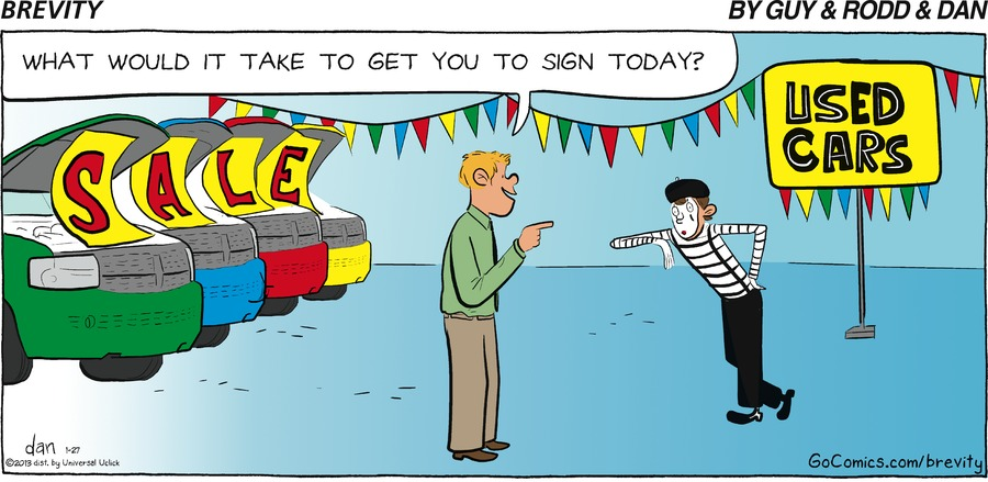 Man: What would it take to get you to sign today?