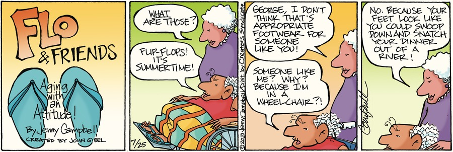 Flo and Friends Comic Strip for July 25, 2021