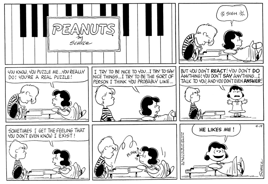 Peanuts Comic Strip for April 19, 1964