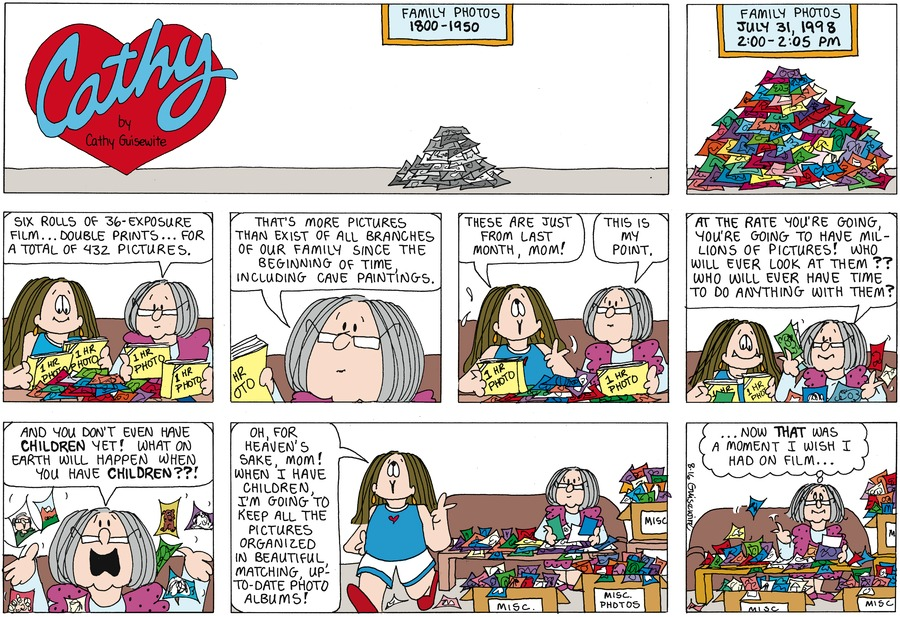 Cathy Classics Comic Strip for August 16, 1998