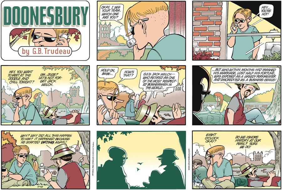 Doonesbury for Nov 10, 2002 Comic Strip