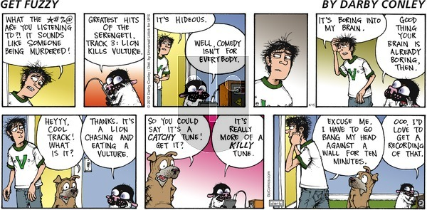 Get Fuzzy on Sunday April 15, 2012 Comic Strip