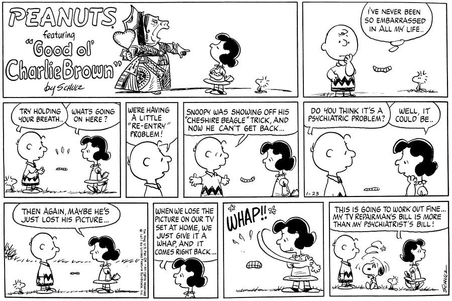 Peanuts Comic Strip for January 23, 1977