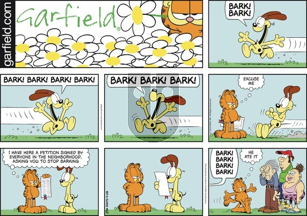 Garfield on Sunday April 28, 2019 Comic Strip