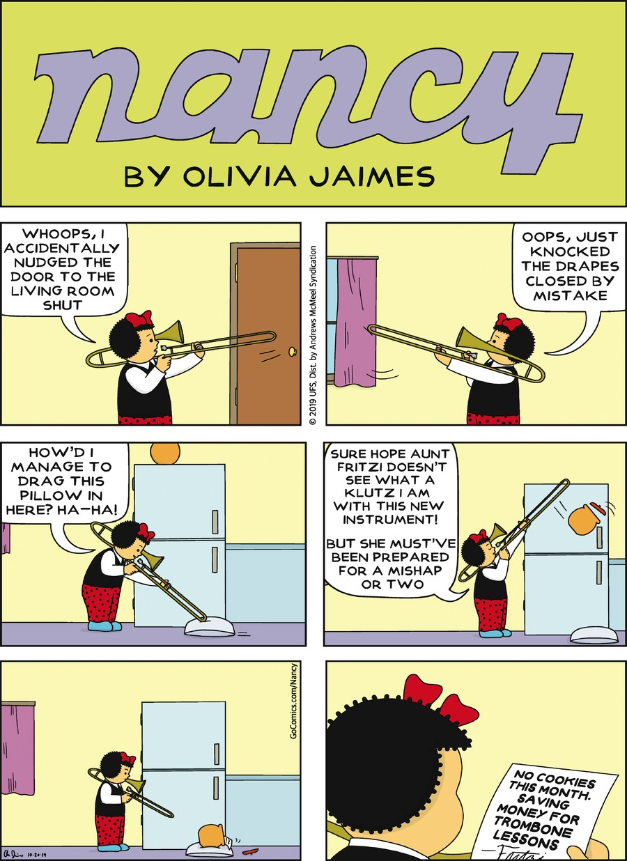 Nancy Comic Strip for October 20, 2019