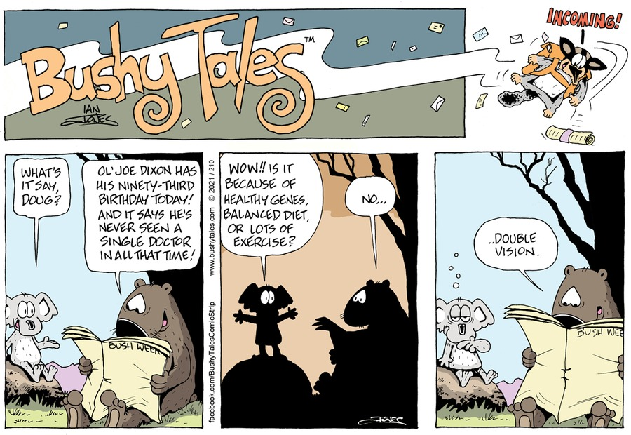 Bushy Tales Comic Strip for April 18, 2021