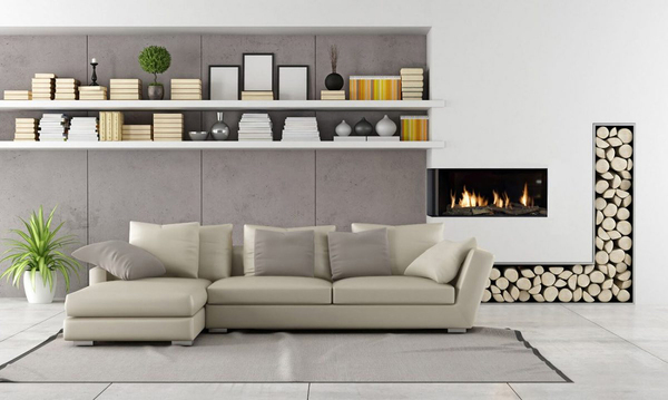 Zero-clearance model fireplaces installed at eye level in the wall create a modern minimalistic look. Flare fireplaces deliver on clean design with glass that protrudes out on the corners to provide more viewing angles and flair.