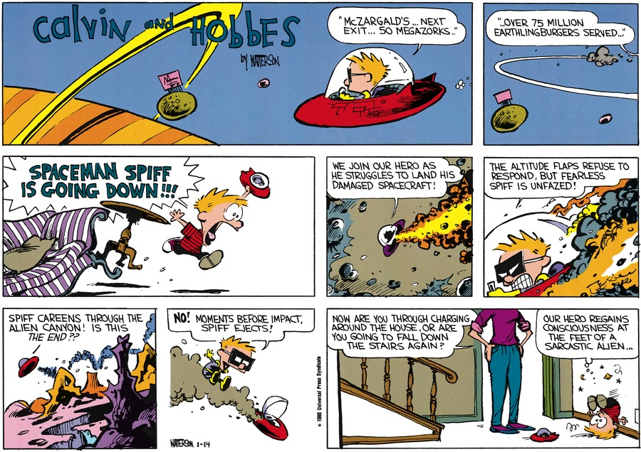 Calvin and Hobbes for Jan 26, 1986 Comic Strip