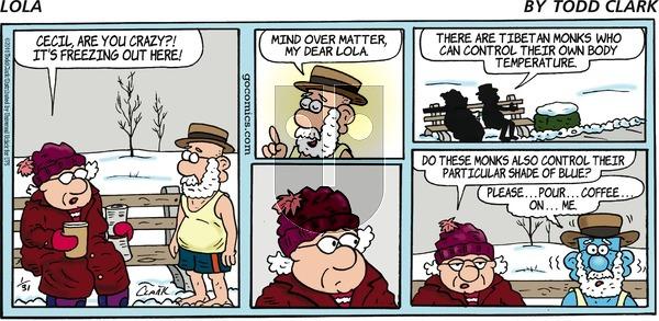 Lola on Sunday January 31, 2016 Comic Strip