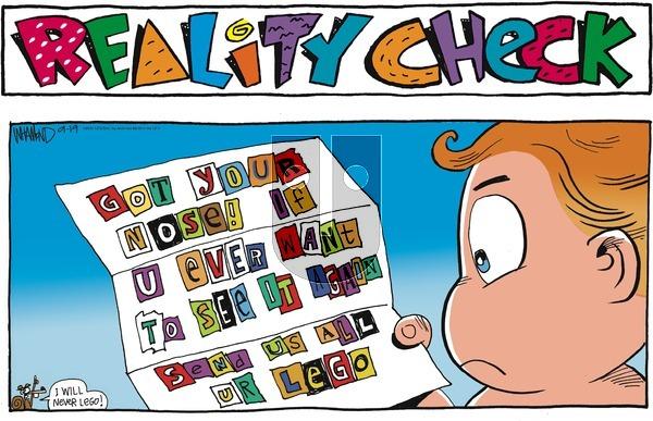 Reality Check - Sunday September 19, 2021 Comic Strip
