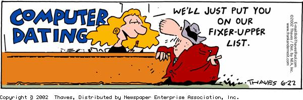 Frank and Ernest Comic Strip for June 22, 2002