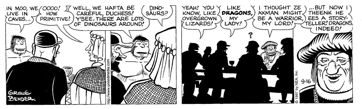 Alley Oop for Sep 16, 1997 Comic Strip
