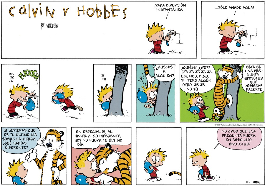 Calvin and Hobbes en Español Comic Strip for August 02, 2020