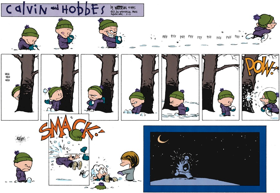 Calvin and Hobbes Comic Strip for February 15, 2015