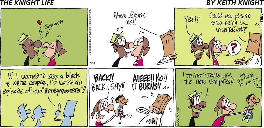 The Knight Life Comic Strip for July 14, 2013