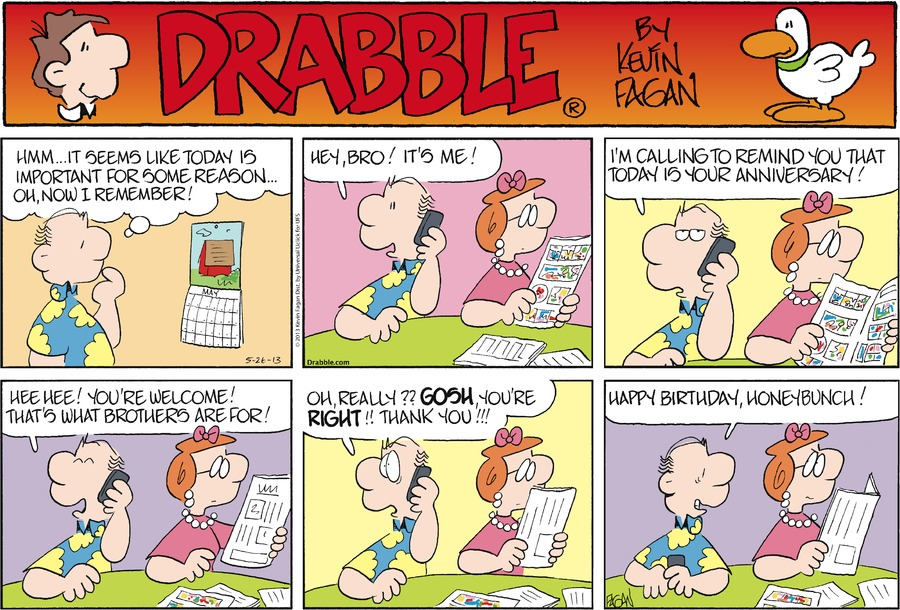 Drabble for May 26, 2013 Comic Strip