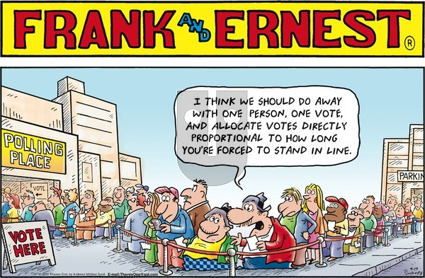 Frank and Ernest on Sunday April 19, 2020 Comic Strip