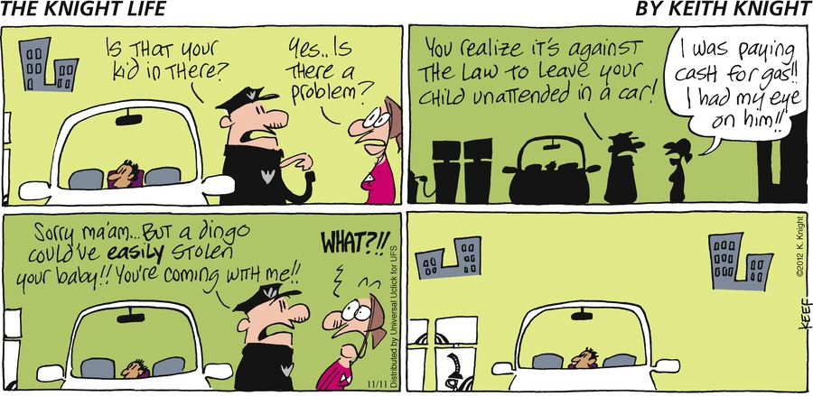 The Knight Life Comic Strip for November 11, 2012