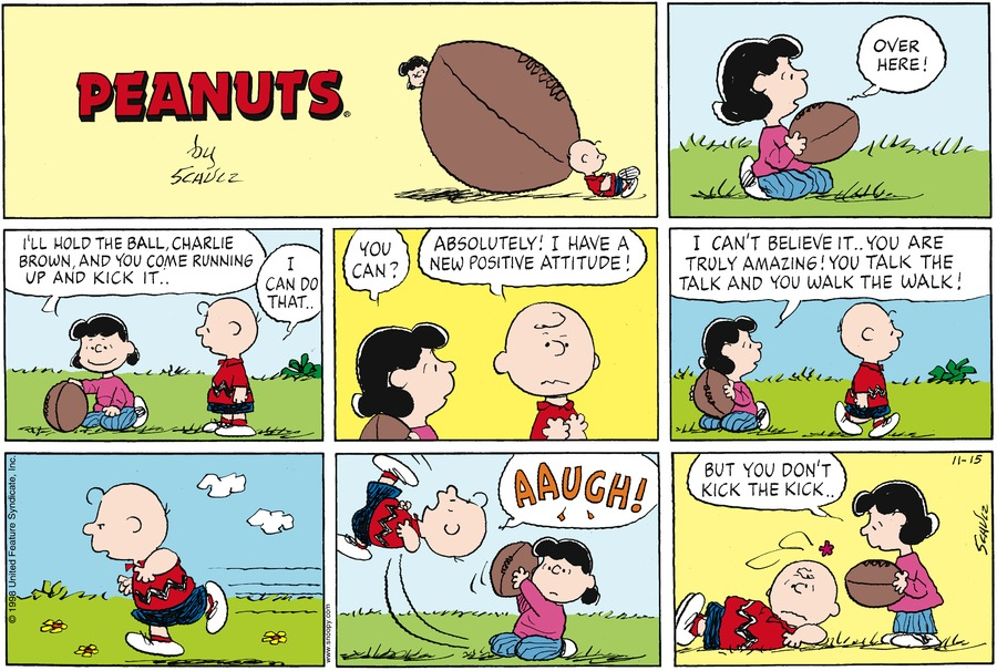 Peanuts Comic Strip for November 15, 1998