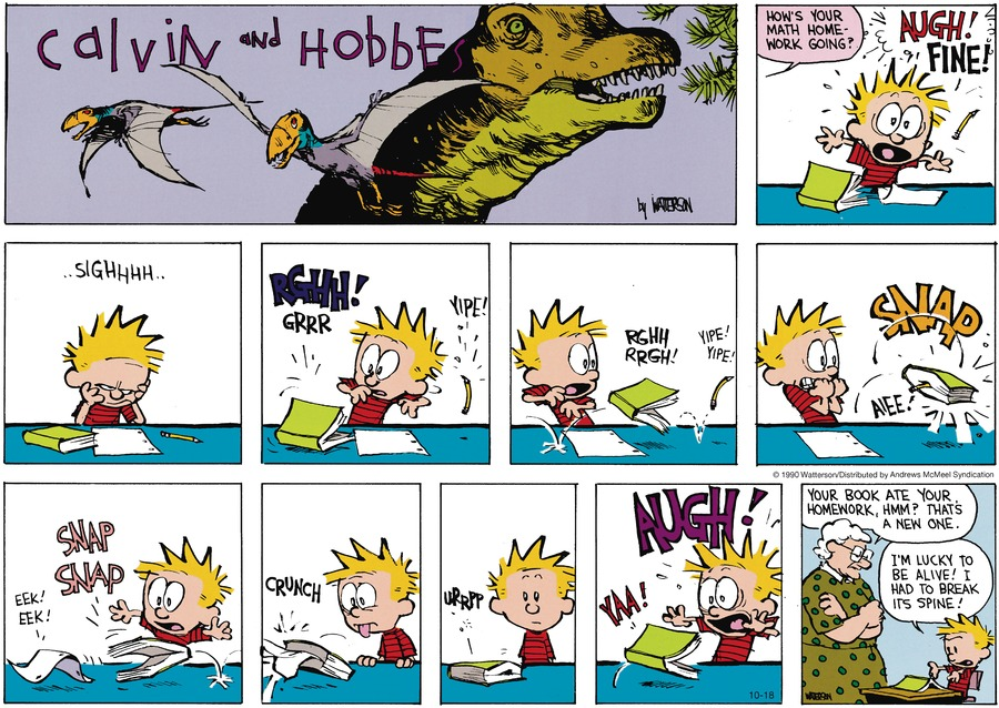 Calvin and Hobbes Comic Strip for October 18, 2020