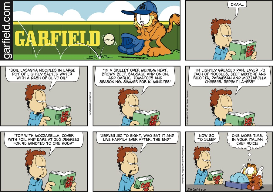 Garfield for May 27, 2018 Comic Strip