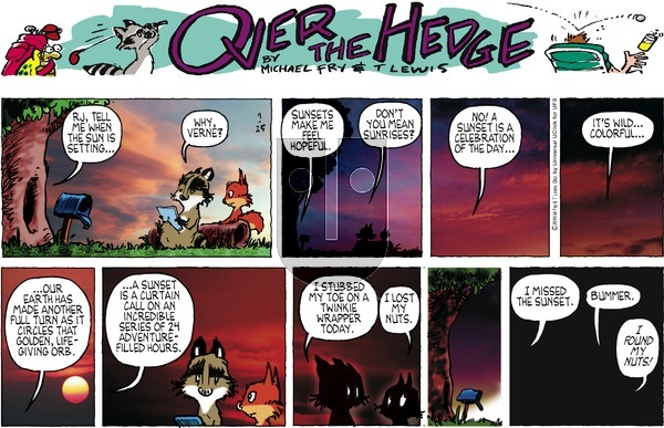 Over the Hedge on Sunday September 25, 2016 Comic Strip