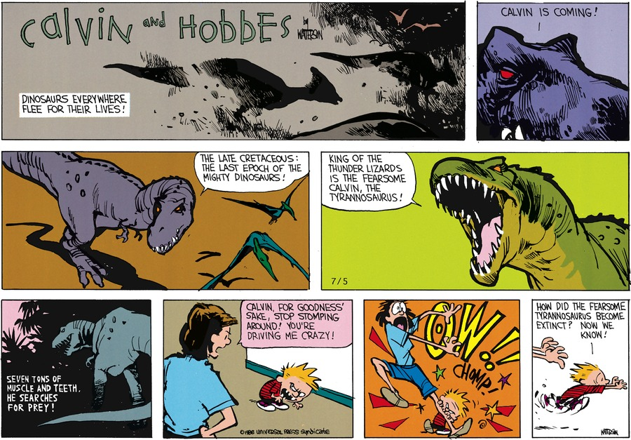 Calvin and Hobbes Comic Strip for August 14, 1988