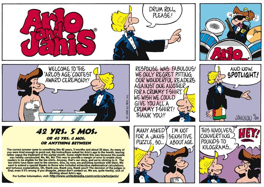 Arlo and Janis Comic Strip for November 24, 1996
