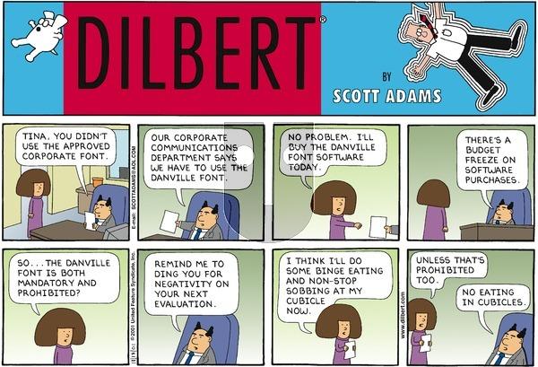 Dilbert - Sunday November 18, 2001 Comic Strip