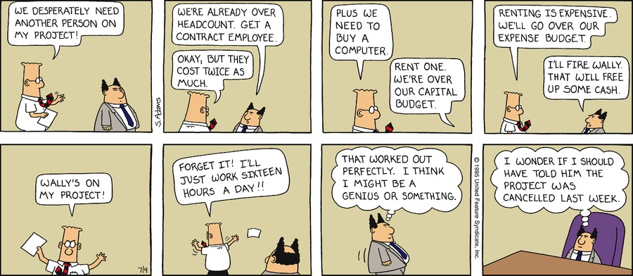 Dilbert Classics by Scott Adams for June 09, 2019