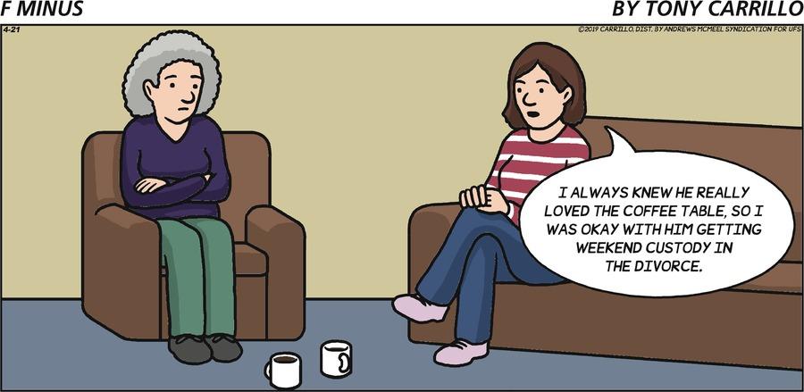 F Minus Comic Strip for April 21, 2019