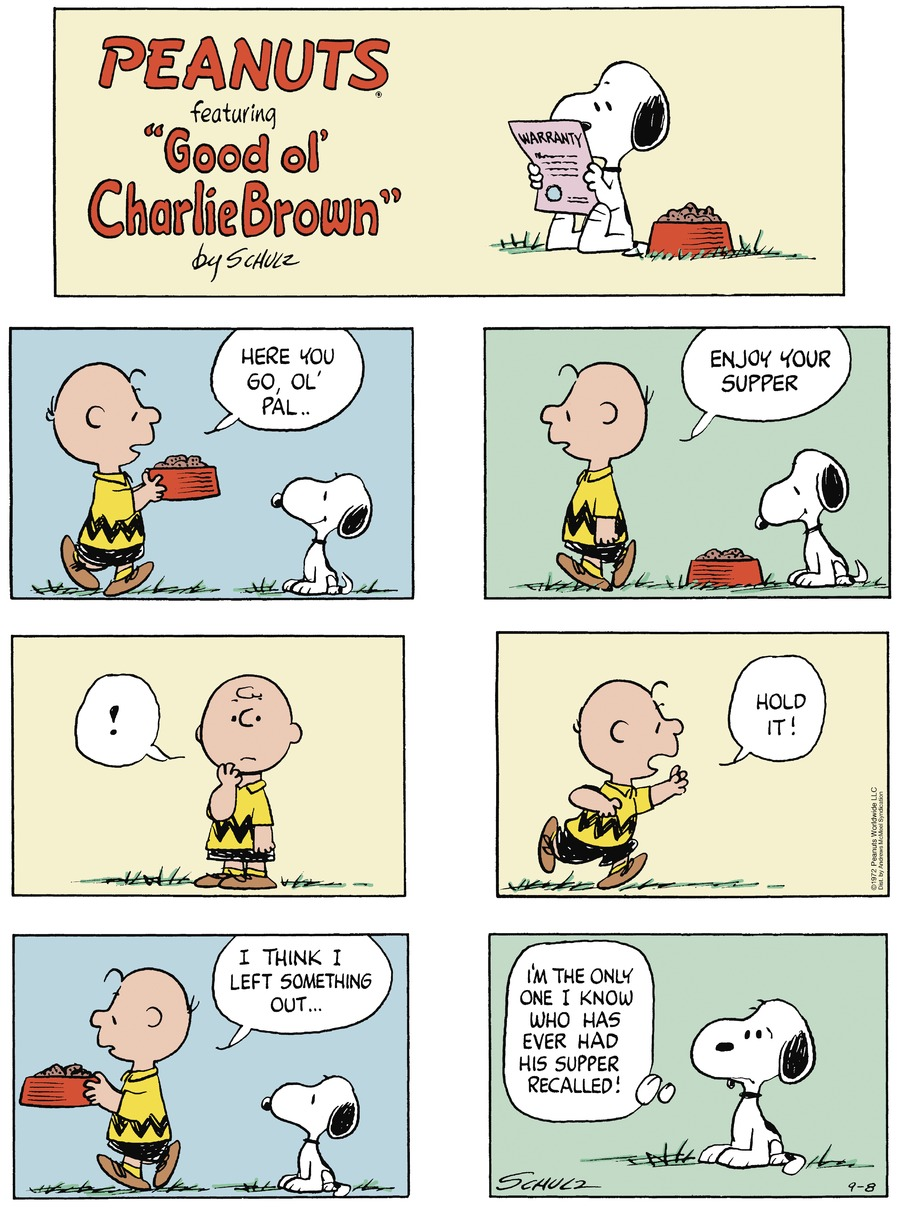 Peanuts by Charles Schulz for September 08, 2019