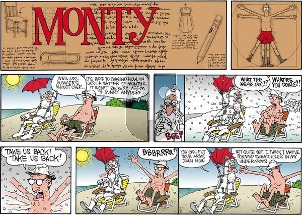 Monty on Sunday September 6, 2015 Comic Strip