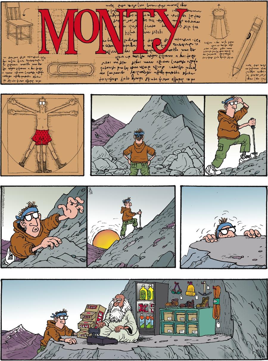 Monty Comic Strip for February 16, 2020